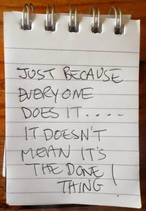 This Note Pad Says....