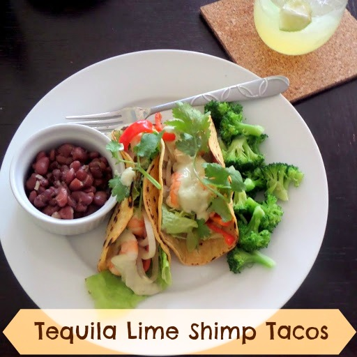 Tequila Lime Shrimp Tacos: Shrimp marinated in tequila and lime juice ...