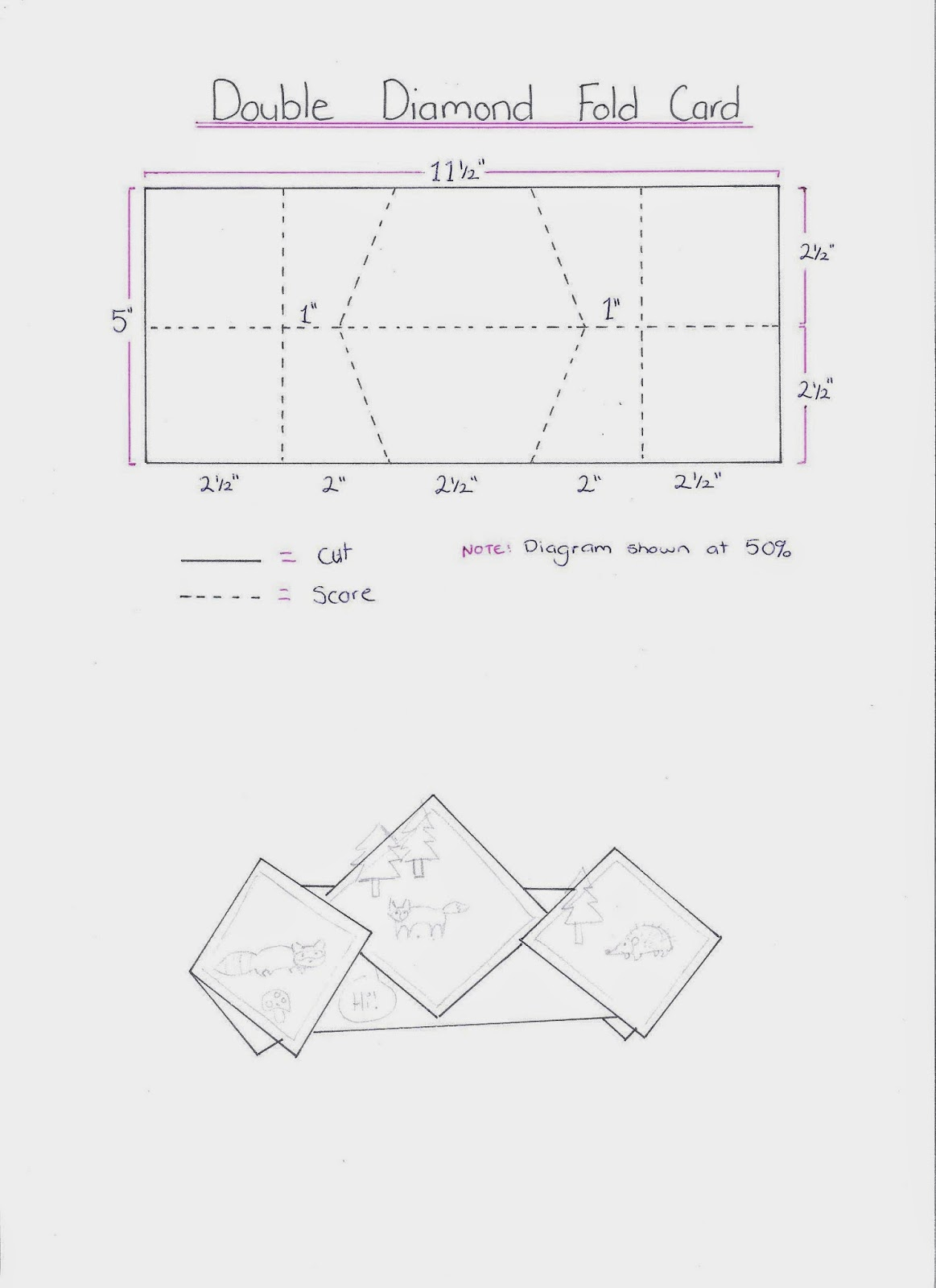 stampin 39 it up with belinda double diamond fold card. Black Bedroom Furniture Sets. Home Design Ideas