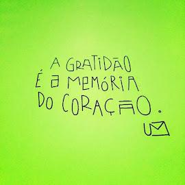 Seja grato (a)!