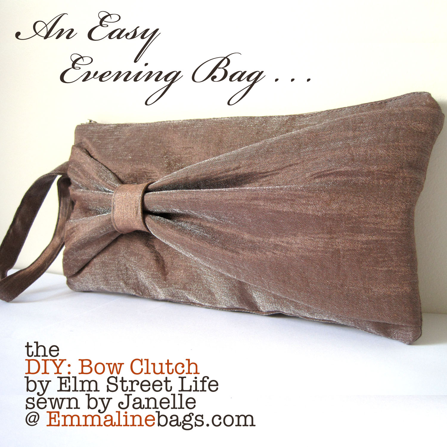 Emmaline bags sewing patterns and purse supplies the bow clutch the bow clutch an evening bag beauty jeuxipadfo Gallery