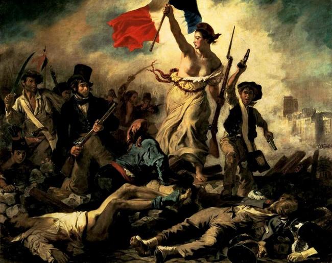 A Liberdade Guiando o Povo de Eugene Delacroix