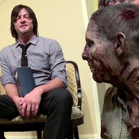 pranking norman reedus, daryl, the walking dead,