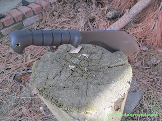 Ka-Bar Kukri Machete - Stuck In A Stump