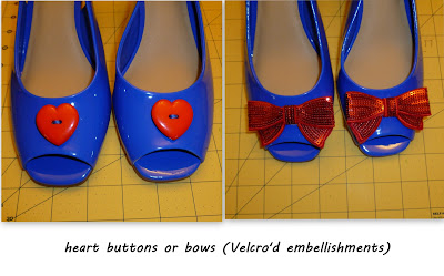 creative ideas for sandal: vivienne westwood inspired shoes (hearts, bows and cherries)