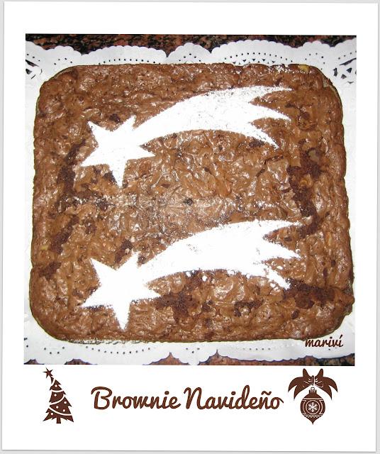 Receta de Brownie Navideño