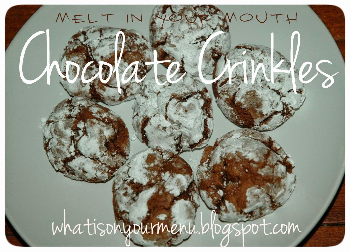how to make chocolate crinkles moist