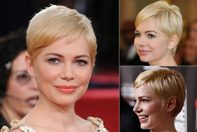 Michelle Williams short haircut bangs