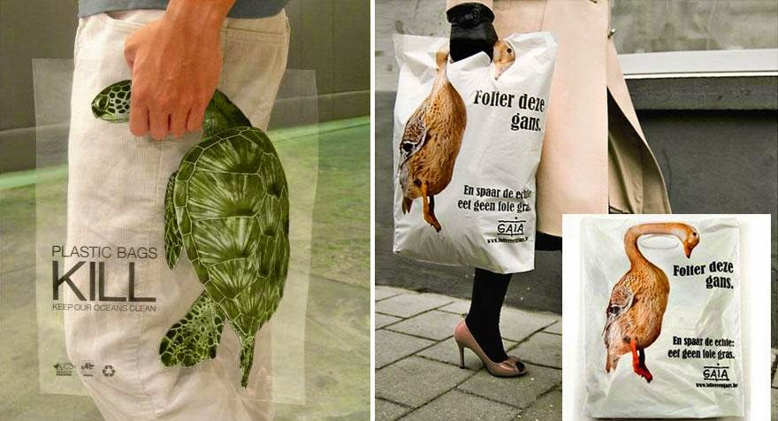 40 Of The Most Powerful Social Issue Ads That'll Make You Stop And Think - Global Action In The Interest of Animals: Plastic Bags Kill