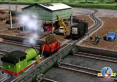Percy train railway Diesel engine Kevin crane Victor Thomas and friends childrens funfair Calliope