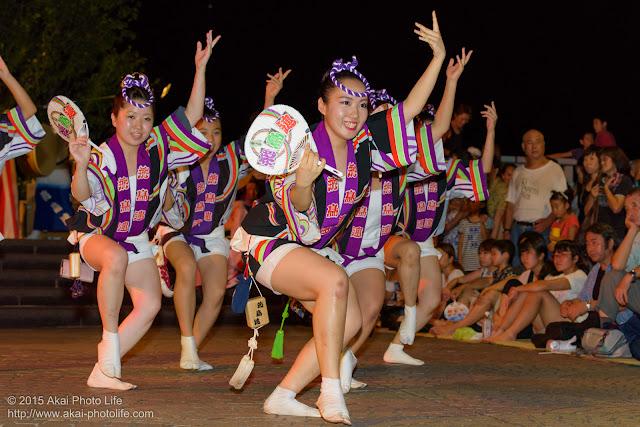 飛鳥連 成増阿波おどり 女性の団扇踊り