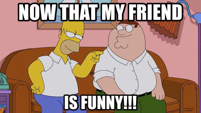 #HomerSimpson, #PeterGriffin, #FamilyGuy, #TheSimpsons #meme.- now that my friend is funny !!!