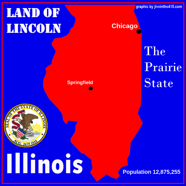 Map of the state of Illinois - graphic by jiveinthe415.com