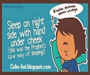 cara tidur rasulullah