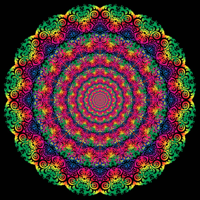 Mandalas, Fractales, Patterns, Efectos Visuales, Efectos Opticos