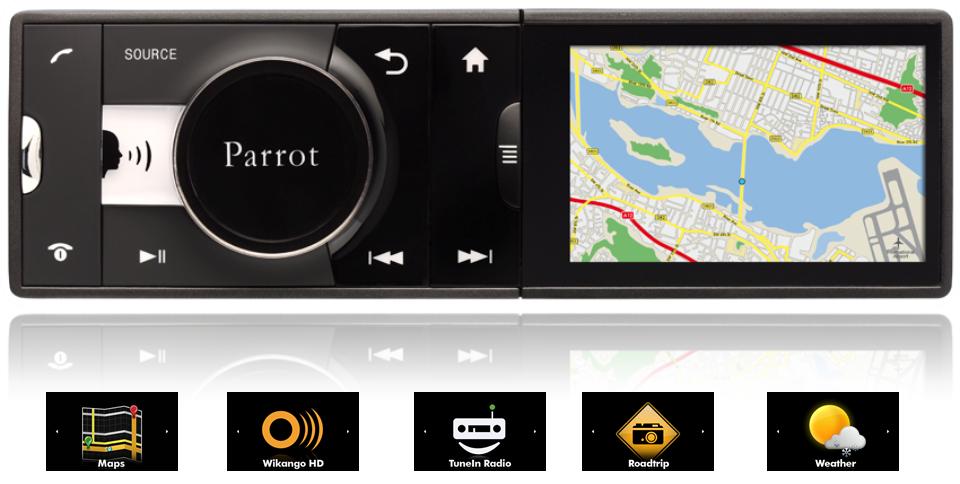 voiture du futur parrot veut plus d 39 applications pour son autoradio connect asteroid. Black Bedroom Furniture Sets. Home Design Ideas