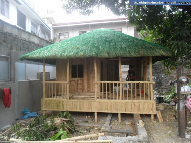 Bamboo lamp photo bamboo house designs in the philippines for Native house plan
