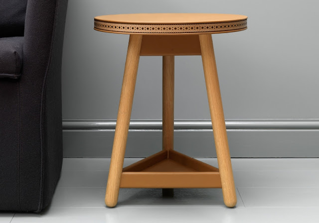brogue side table gray and turner