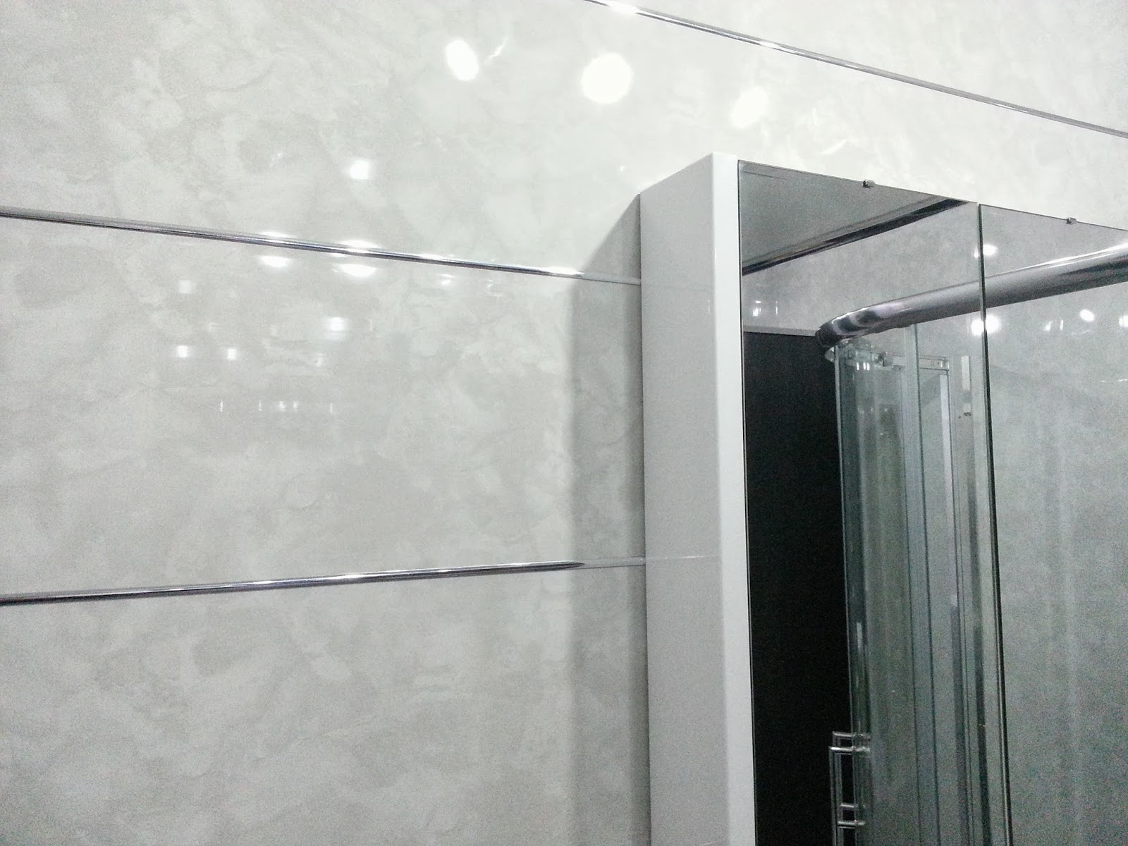 Plastic sheets for bathroom walls - Marble Effect Panels