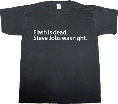 adobe, flash Flash Wars steve jobs iphone ipad obsolete t-shirt ephemeral-t-shirts