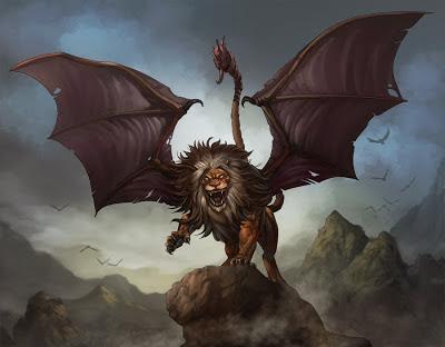 manticore satu dari 9 Makhluk Misterius yang Menggegerkan Dunia