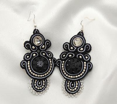 kolczyki sutasz soutache earrings 72