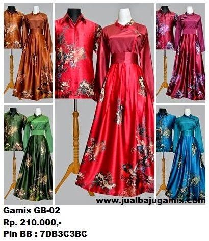 Gambar Gamis Batik Couple