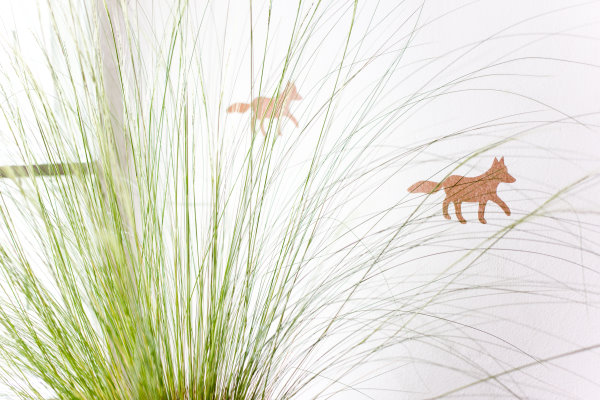 Wanddeko: Funkel-Füchse