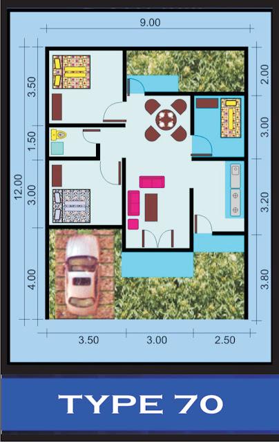desain rumahtype 70 108 desain denah rumah terbaru