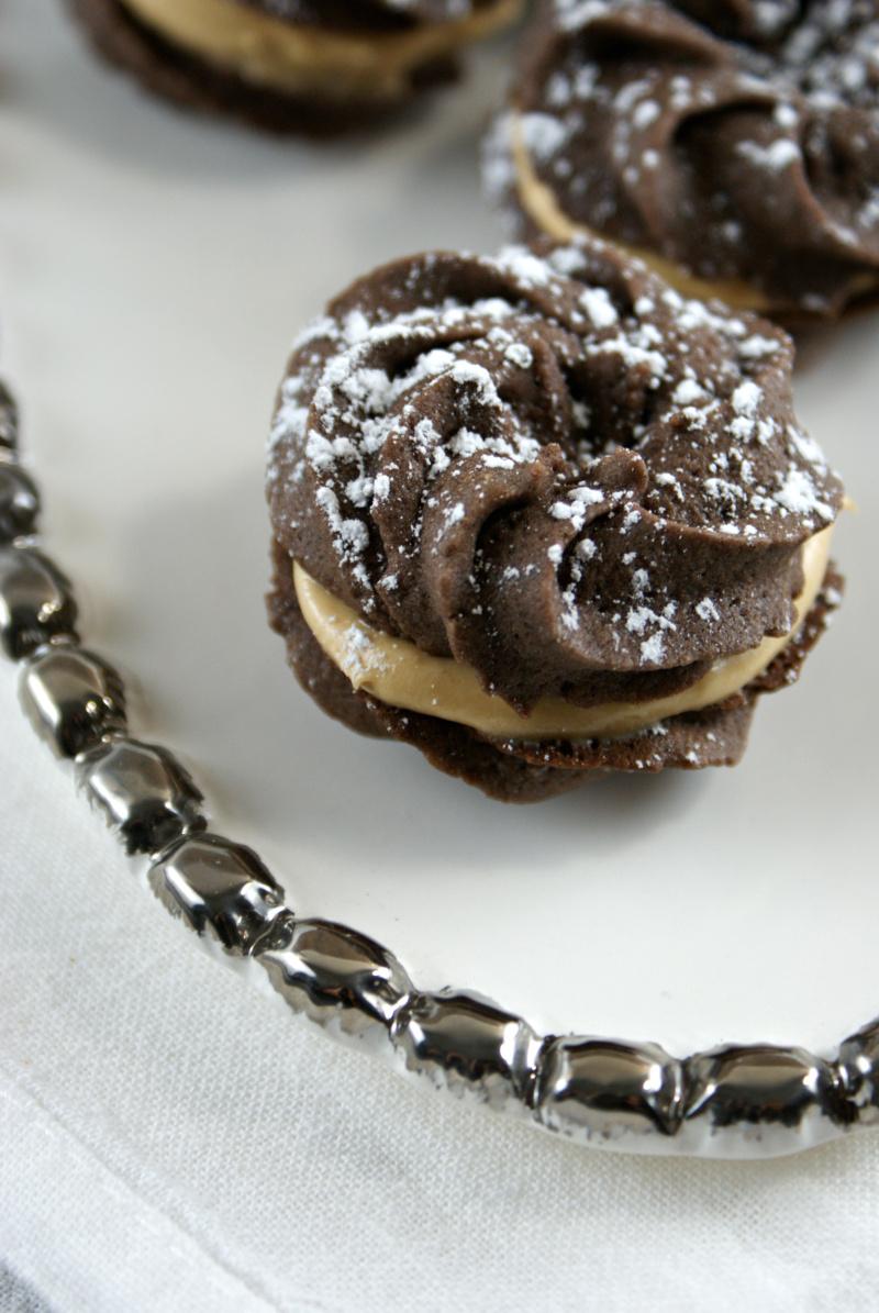 Authentic Suburban Gourmet: Chocolate Espresso Sandwich Cookies