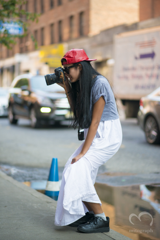 Photographer Nadia Sarwar at New York and London during Fashion Week 2014 Spring Summer Season