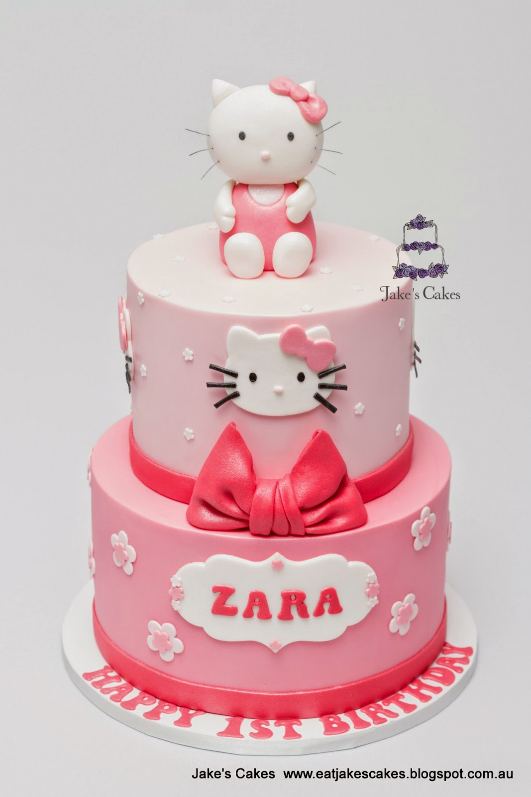Jakes Cakes Hello Kitty First Birthday Cake