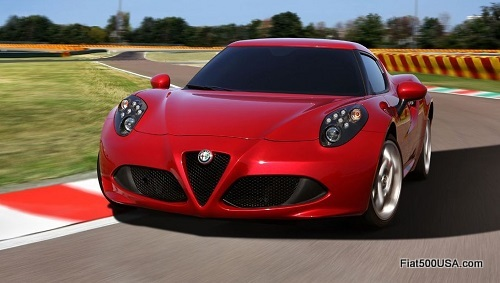 Alfa Romeo 4C cornering