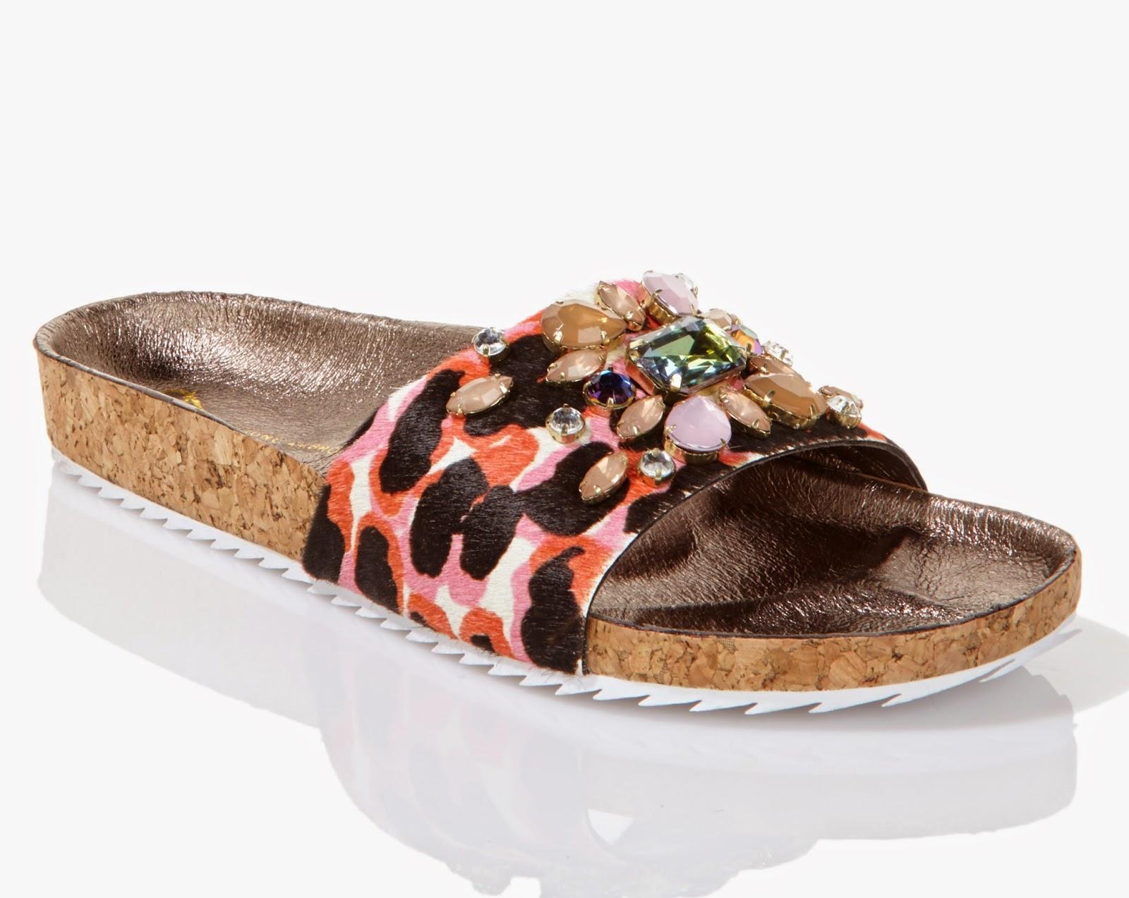 June Ambrose for HSN jeweled flat sandal