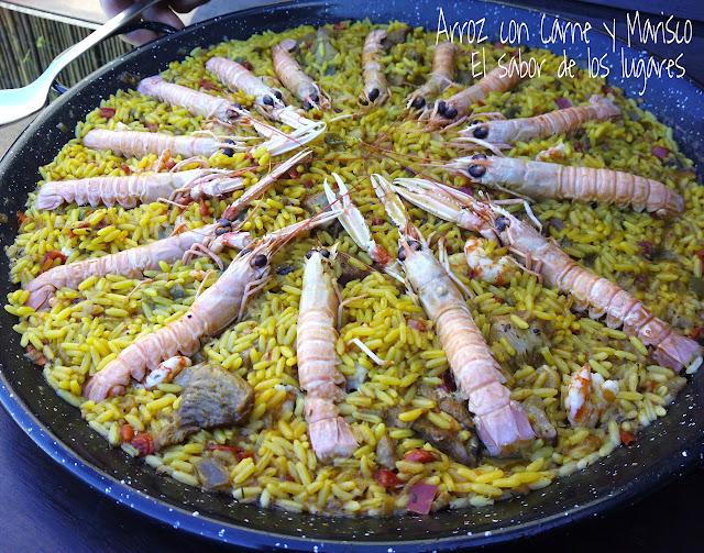 Arroz Con Carne Y Marisco.