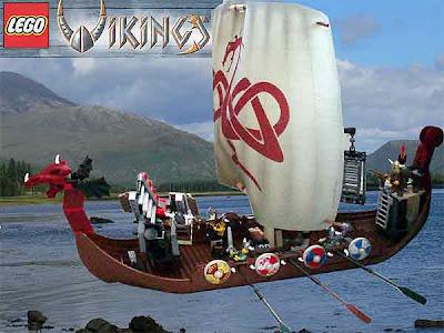 Technic toy model brick build range set 7018 LEGO VIKINGS ship challenges midgard serpent monster