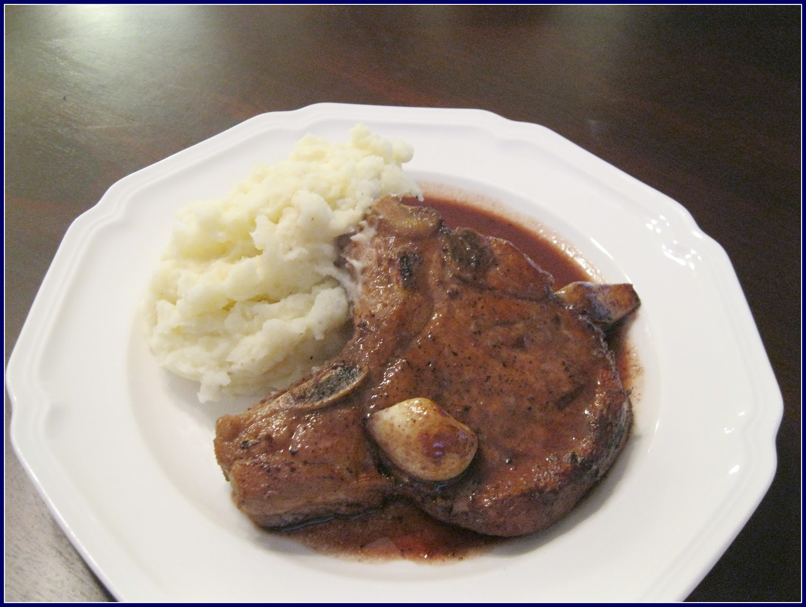 Dinner Tonight: Pork Chops with Red Wine and Garlic