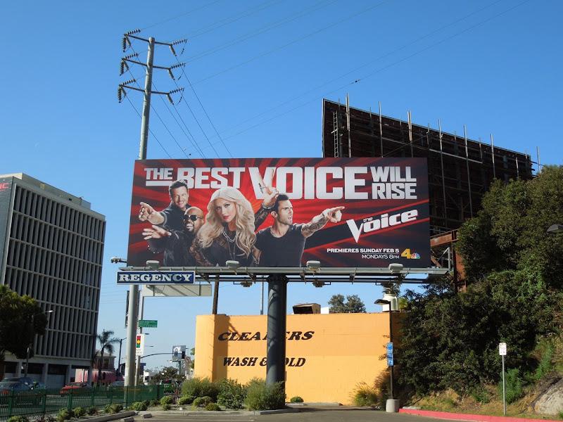 The Voice season 2 TV billboard