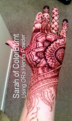 Extra dark color henna tattoo stain using ORa Henna Powder