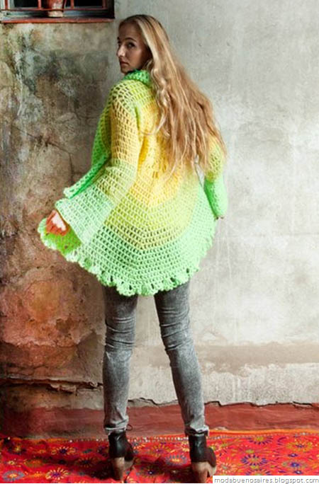 De las Bolivianas tejidos artesanales. Moda Tejidos 2013.
