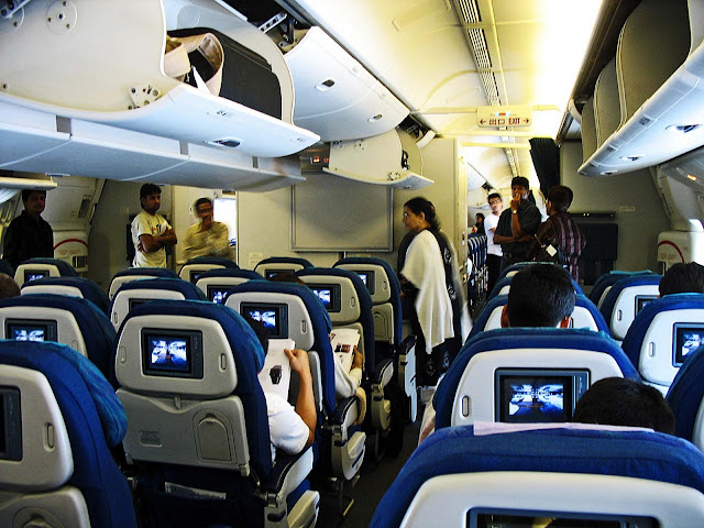 inside of an aeroplane