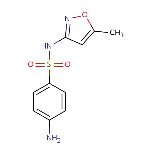 Struktur Sulfamethoxazole