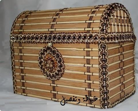 طريقة صنع صندوق خشب من الورق المقوى رائع