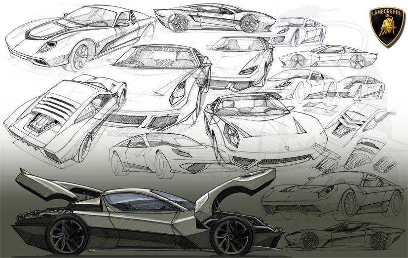 Mandar Tamhane Lamborghini Sketch Exploration