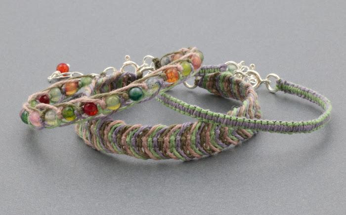 bransoletki makrama - sznurek konopny