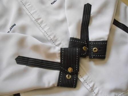 lengan jaket korporat VVIP putih