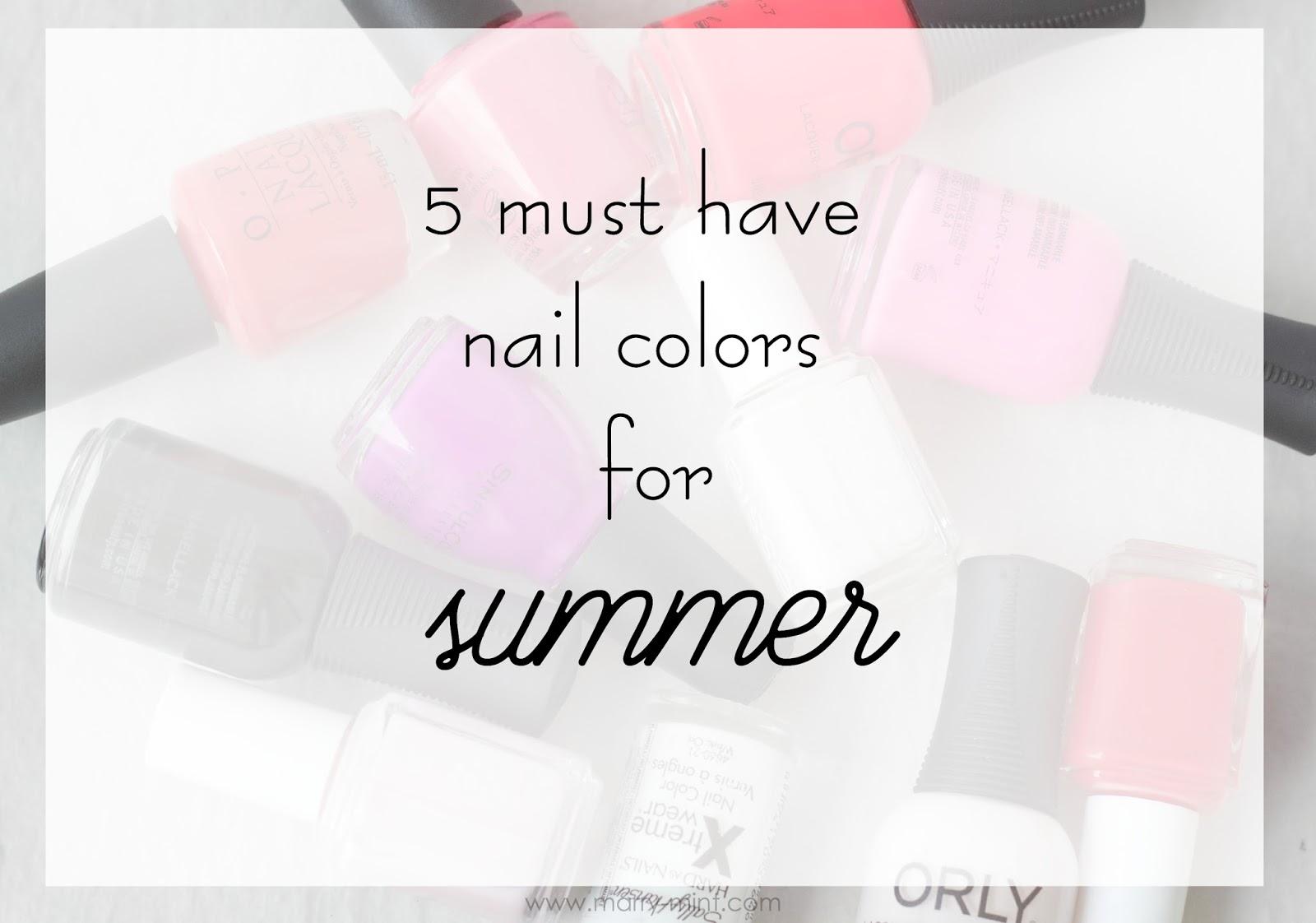 bright nail colors