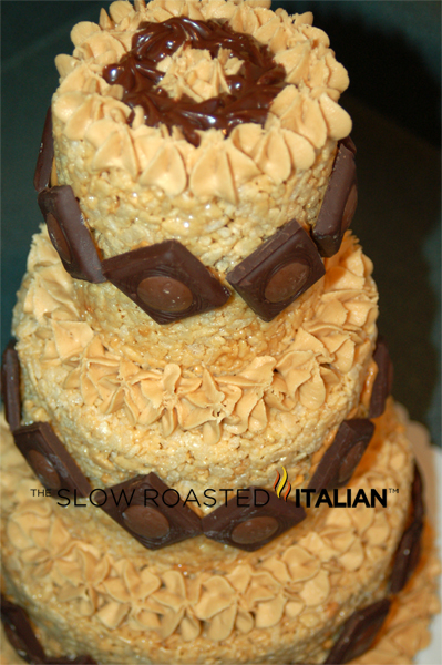 How To Make A Peanut Butter Rice Krispies Cake