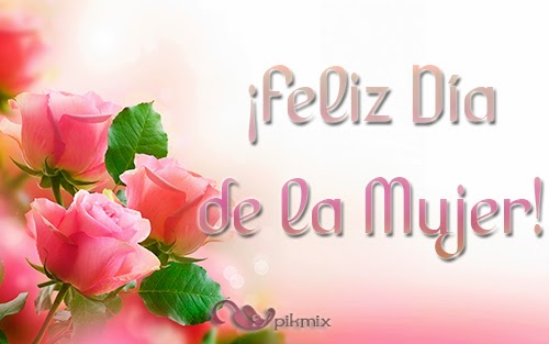 Feliz día de la  mujer - Tarjeta para compartir - rosas