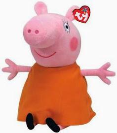 """V. I. BUY: TY 9"""" Beanie Peppa Pig Mummy Pig"""
